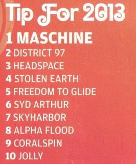 Prog Tip for 2013